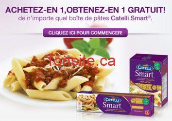 smartcatelli - Coupon Achetez 1,  obtenez 1 gratuit  sur les pâtes Catelli Smart!
