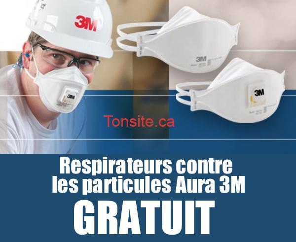 3M 1 - GRATUIT: Demandez des respirateurs contre les particules Aura 3M gratuitement!