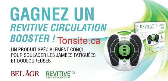 BELAGE - Concours Belâge: Gagnez un Revitive Circulation Booster!