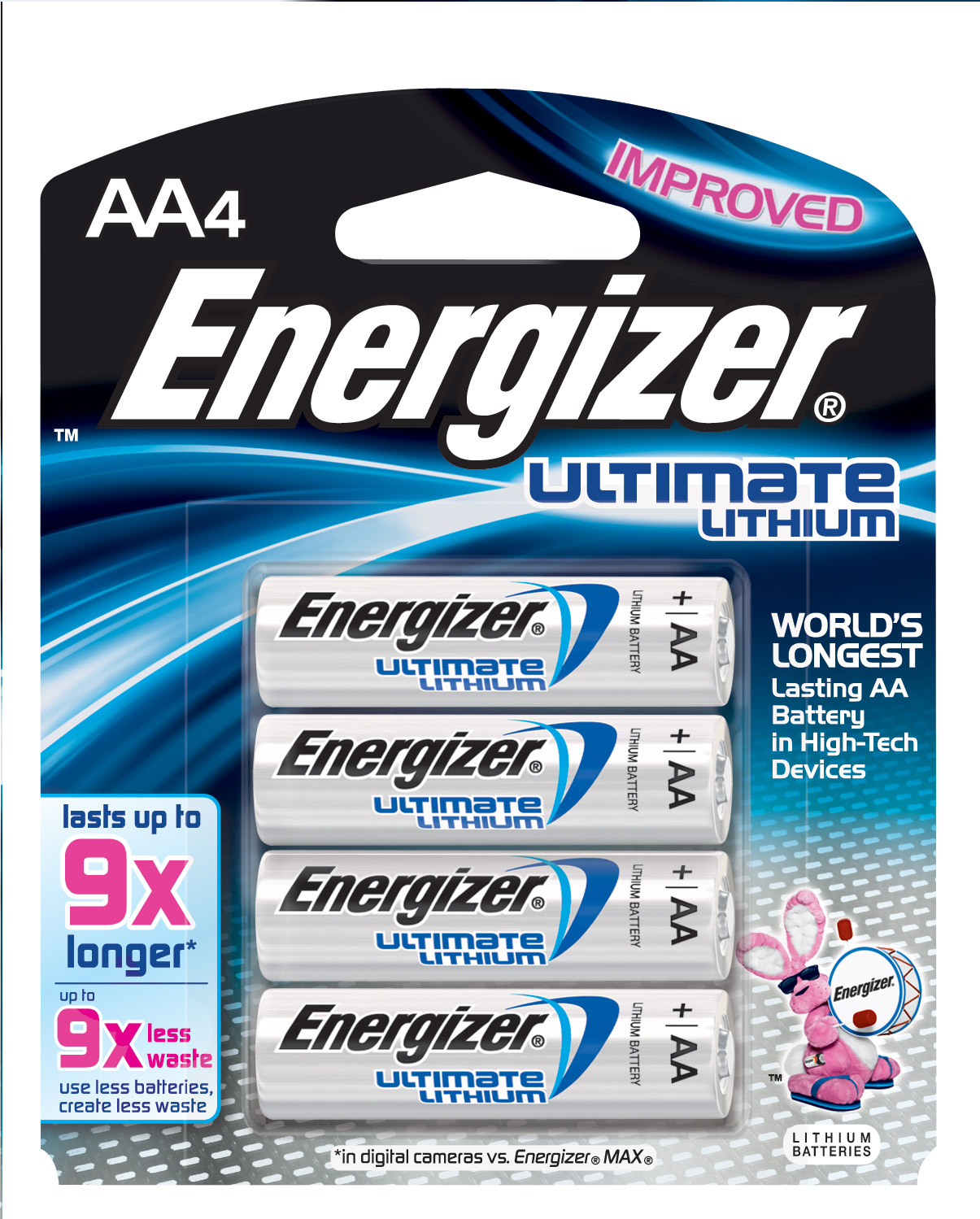 ENERGIZER Ultimate Lithium Batteries AA - Coupon rabais de 5$ sur les batteries Energizer Ultimate Lithium!