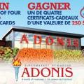 adonis 120x120 - Concours Marché Adonis: Gagnez 1 de 4 certificats-cadeaux de 250$!