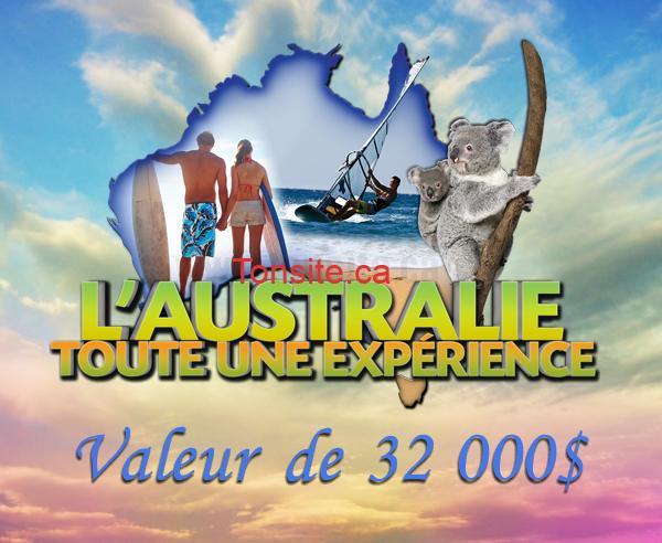 australie concours - Gagnez un voyage pour deux en Australie d'une valeur de 32000$!