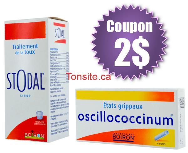 boiron - Coupon rabais de 2$ sur un produit de la gamme hiver Boiron (Stodal ou Oscillococcinum)!