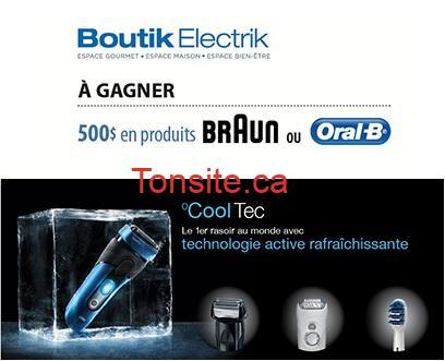 boutilelectrik - Gagnez une carte-cadeau Boutik Electrik de 500 $ en produits Braun ou Oral-B!