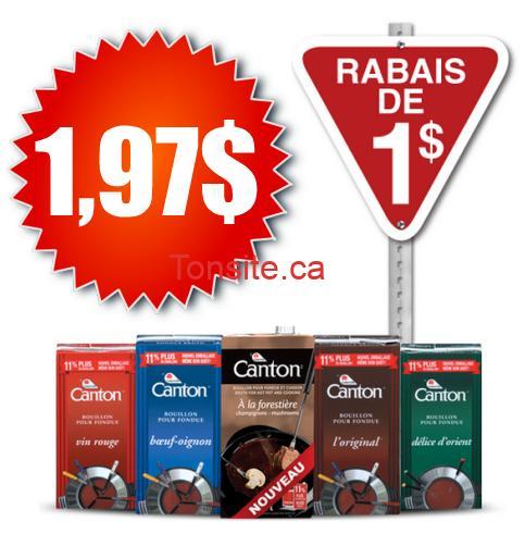 canton 197 - Bouillon à fondue Canton à 1,97$ après coupon!