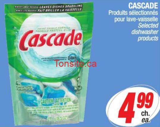 cascade aubaine - Cascade pour lave-vaisselle à 3,49$ après coupon