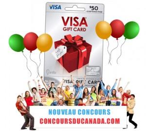 concours visa 300x270 - Concours du canada: Gagnez une carte visa prépayée de 50$!
