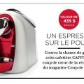 coup de pouce 120x120 - Concours Coup de pouce: Gagnez une cafetière Caffitaly (valeur de 435$)!
