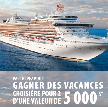 cruise - Concours CruiseShipCenters: Gagnez des vacances croisière pour 2 d'une valeur de 5000$!