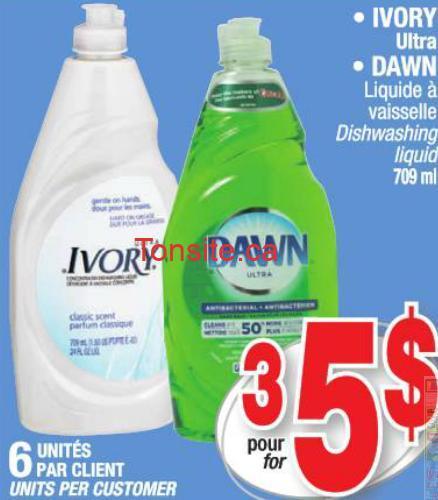 dawn aubaine - Liquide à vaiselles Dawn à 1,16$ après coupon!