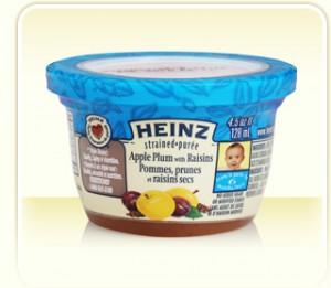 heinz pot 300x261 - Pots de purée Heinz pour bébé à 46¢ après coupon imprimable !