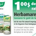 herbamare 120x120 - Coupon rabais de 1$ sur le sel de mer Herbamare!