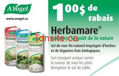 herbamare - Coupon rabais de 1$ sur le sel de mer Herbamare!