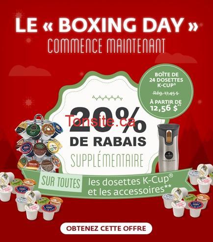 keurig boxing day - Keurig: Obtenez 20% de rabais supplémentaire sur toutes les dosettes K-Cup et accessoires + livraison gratuite!