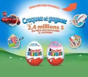 kinder 300x265 - Concours Kinder Canada: Gagnez une Fiat 500 POP 2014 et 2 voyages pour 4 personnes à Orlando ou 1 de 228853 prix instantanés!