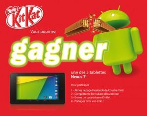kitkat couchetard 300x237 - Concours Kit Kat Android de Couche-Tard: Gagnez 1 de 5 tablettes Nexus 7 de Google!