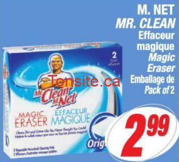 mr net coupon - M.NET effaceur magique à 2.49$ après coupon!