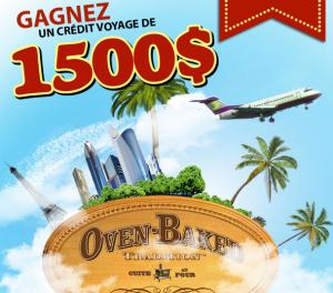 oven baked concours 300x264 - Concours Oven Baked Tradition: Gagnez un crédit voyage d'une valeur de 1500$!