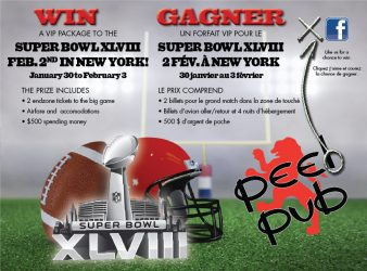 peelpub - Concours Peel Pub: Gagnez un forfait VIP pour le Super Bowl XLVIII  à New York!