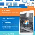 raize 120x120 - Concours Raize: Gagnez 1 iPad mini et des certificats cadeaux et plus!