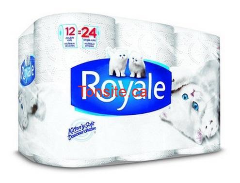 royale - 12 rouleaux doubles de papier hygiénique Royale à 2,99$!