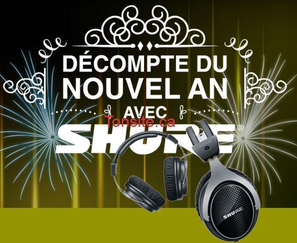 shure - Concours Shure: Gagnez un casque d'écoute professionnel d'une valeur de 599$!
