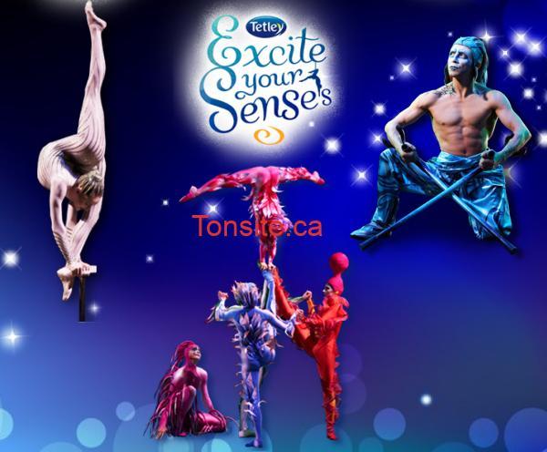 tetley1 - Concours Tetley: Gagnez un de 5 voyages pour un spectacle du Cirque du Soleil partout dans le monde de votre choix!