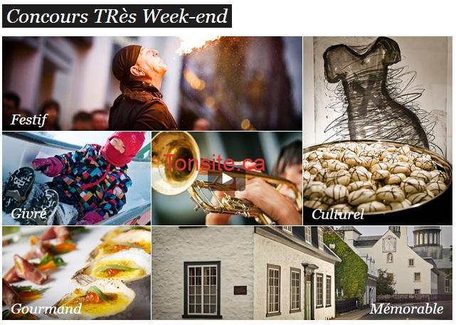 tres weekend - Gagnez un week-end expérience pour 2 personnes d'une valeur de plus de 1000 $ à Trois-rivières!