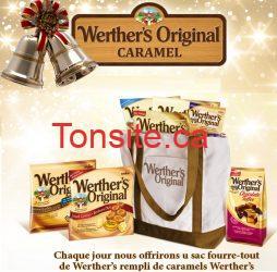 werthers original concours - 15 jours de Noël de Werther's Original: Gagnez 1 sac fourre-tout rempli de caramel Werther's!
