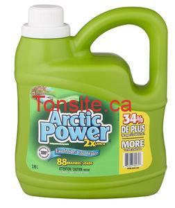 artic - Coupon rabais de 1,50 $ sur tout format de détergent pour la lessive Arctic Power!