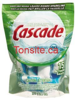 cascade - Cascade pour lave-vaisselles à 1,99$ après coupon!
