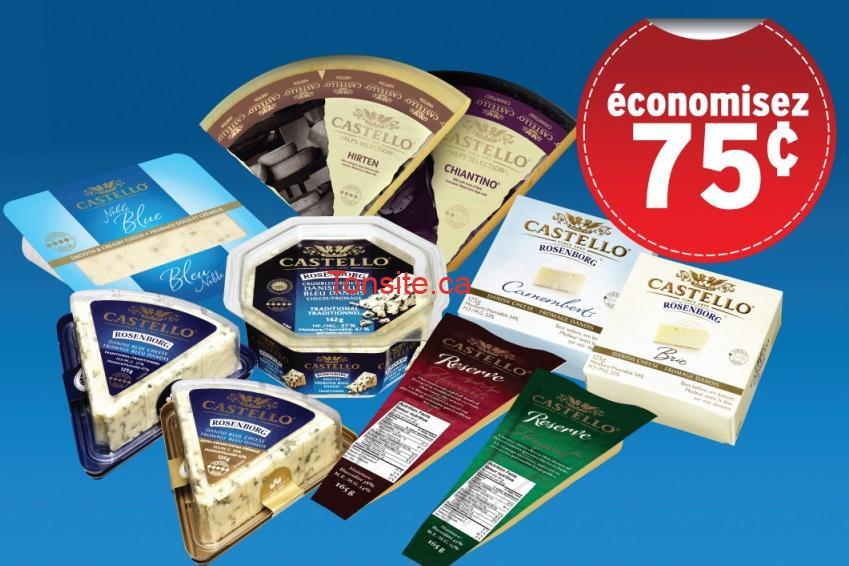 castello 75 - Coupon rabais de 75¢ sur tout fromage Castello