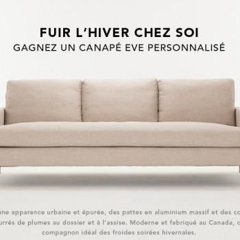 eve canape 350x350 - Concours EQ3 Furniture + Accents: Gagnez un canapé EVE personnalisé (valeur de 2000$)!