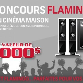 flamingo concours 350x350 - Concours Flamingo: Gagnez un cinéma maison d'une valeur de 5000$!