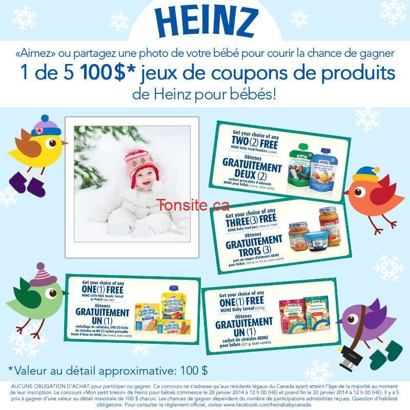 heinz coupons 100 - Concours Heinz: Gagnez 100$ de produits Heinz en coupons de gratuité!
