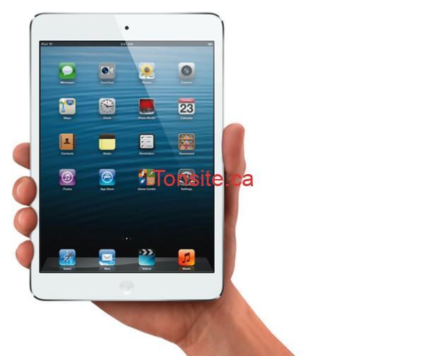 iPad mini inHand Wht iOS6 610x505 - Concours Vimont Toyota Laval: Gagnez un iPad mini 2 d'une valeur de 375$