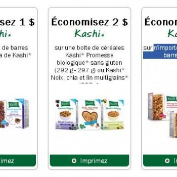 kashi 350x350 - 4$ en coupons rabais sur les produit Kashi!