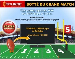 lasource concours 300x237 - Concours La Source: Gagnez une TV HD Toshiba DEL de 58 po (Valeur de 1299,99$)!