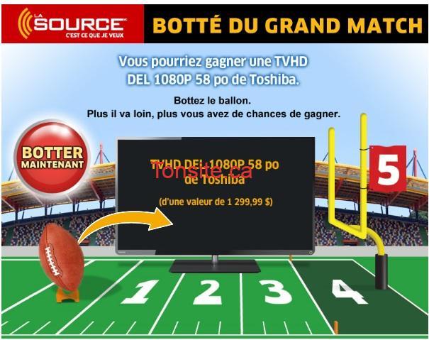 lasource concours - Concours La Source: Gagnez une TV HD Toshiba DEL de 58 po (Valeur de 1299,99$)!