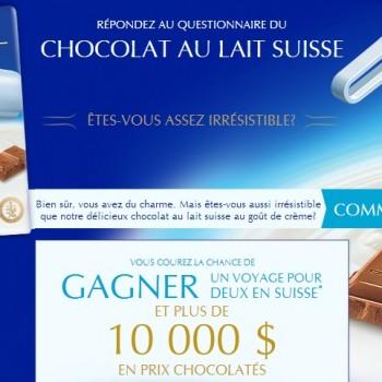 lindt concours 350x350 - Concours Lindt: Gagnez un voyage pour deux en suisse  (valeur de 10000$) et un coupon de 2$!