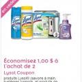 lysol coupon 120x120 - Coupon rabais de 1$ sur 2 produits Lysol!