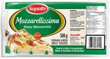 mozzarellisima 350x190 - Barre de fromage Mozzarellisima de Saputo à 4,02$ après coupon!