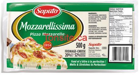 mozzarellisima - Barre de fromage Saputo Mozarellissima (500g) à 4,02$ après coupon!