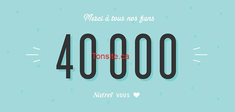 natrel 40000 - Concours Natrel: Gagnez un ensemble cadeau Natrel!