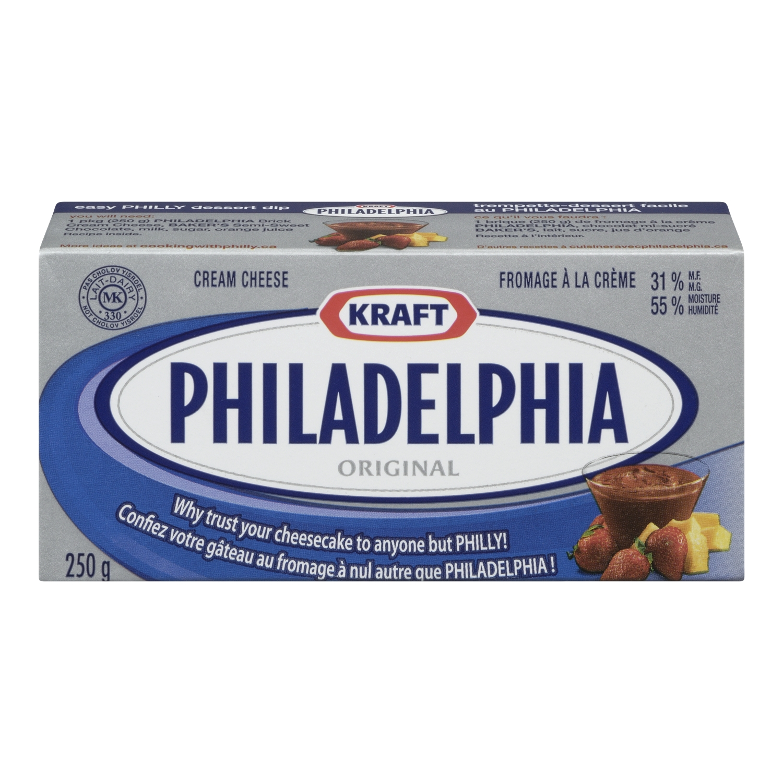 philadelphia - Fromage à la crème Philadelphia (250g) à 2$ après coupon!