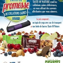 tasteofnature 250x250 - Concours Taste of Nature: Gagnez un tapis de yoga avec sac de transport et une boîte de barres Taste Of Nature!