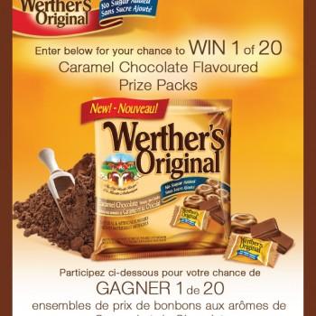 wherthers concours 350x350 - Concours Werther's Original: Gagnez 1 de 20 ensembles de prix de bonbons aux arômes de caramel et de chocolat!