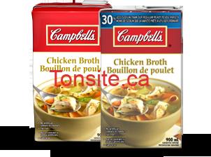 14 broths - Bouillons Campbell's à 1.50$ après coupon!