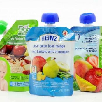 622725 purees pour bebe commerce sachet 350x350 - Aliments en purée pour bébé de Heinz à 79¢ après coupon!