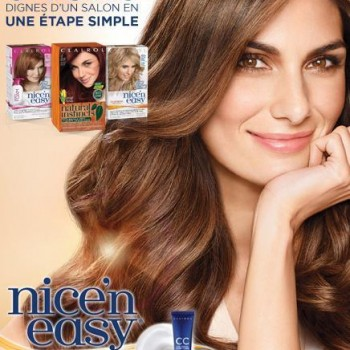 NICEN EASY 350x350 - Colorants capillaires Nice'n Easy de Clairol à 5.98$ après coupon!